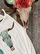 Printed Crew Neck Sleeveless Shirts & Tops