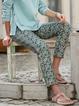 Vintage Casual Floral Printed Legging Pants