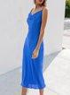 Blue Sleeveless Sheath Dresses