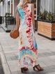 Blue Dresses Daily Gradient  Tie Dye Dress