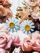 Simple flower sunflower earrings