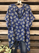 Plus size Short Sleeve Floral Shirts & Tops