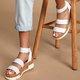 Pi Clue Fabric Block Heel Holiday Sandals