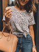 Leopard Casual T-Shirts