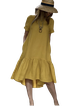 Yellow Sleeveless Paneled Dresses