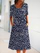 Daisy dress in floral pocket midi dress