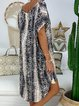 Short Sleeve V Neck Casual Dresses