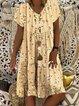 V Neck Vintage Floral Dresses