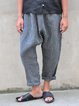 Gray Striped Casual Pants