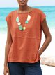 Women Summer Solid Tee Short Sleeve T Shirts