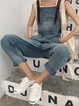 As Picture Denim Casual One-Pieces