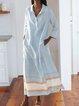 Plus Size Maxi Shirt Dress Pockets Long Sleeve Dresses