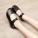 Office & Career Cowhide Leather Summer Flats