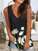 Black Shift Floral Knitted Holiday Vests