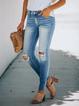 Blue Casual Denim Pants
