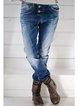 Blue Dip-Dyed Denim Casual Pants