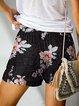 Women's Elastic Waist Printed Casual Women Shorts