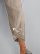 Khaki Casual Printed Pants