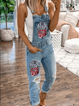 As Picture Holiday Denim Floral-Print One-Pieces