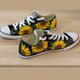 Black Canvas All Season Casual Flat Heel Sneakers