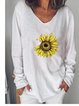 White Round Neck Casual Cotton-Blend Shirts & Tops