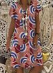 Women's dress A-Line daily geometric dress