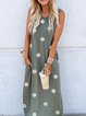 Blue Gray Shift Sleeveless Dresses