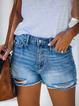 Blue Denim Casual Pants