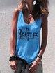 Sleeveless  Printed Shirts & Tops