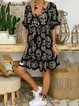 Black skull leopard dress