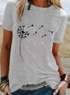 Floral Crew Neck Casual Short Sleeve Shirts & Tops