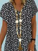 Women Caftan Floral V-Neck Casual Dresses