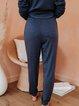 Drawstring Cotton-Blend Pants