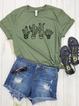 Cotton Short Sleeve Floral-Print Shirts & Tops