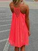 High Low Women Daily Basic Spaghetti Summer Dress