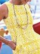 Women Caftan Pockets Shift Vintage Floral Dresses