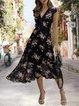 V Neck  A-Line Date Holiday Maxi Dress