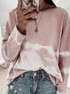 Pink Long Sleeve Crew Neck Printed Shirts & Tops