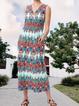 V Neck Women Dresses Shift Daily Dresses