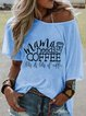 Short Sleeve Crew Neck Casual Printed T-Shirts