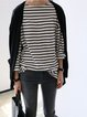 Black Long Sleeve Striped Shirts & Tops