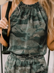 Green Printed Casual Crew Neck Dresses