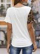 Casual Paneled Short Sleeve Shift Shirts & Tops