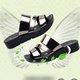 Women Platform Pu Comfy Open Toe Slippers
