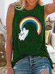 Cotton-Blend Sleeveless Shirts & Tops