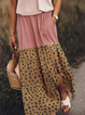 Plus size Polka Dots Sleeveless Casual Dresses