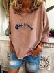 Khaki Holiday Cotton Floral-Print Crew Neck Shirts & Tops