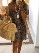 Leopard Vintage Cotton Printed Dresses