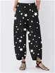 Retro casual five-point star print loose cropped pants
