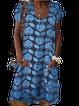 Casual U-Neck Short Sleeve Dresses